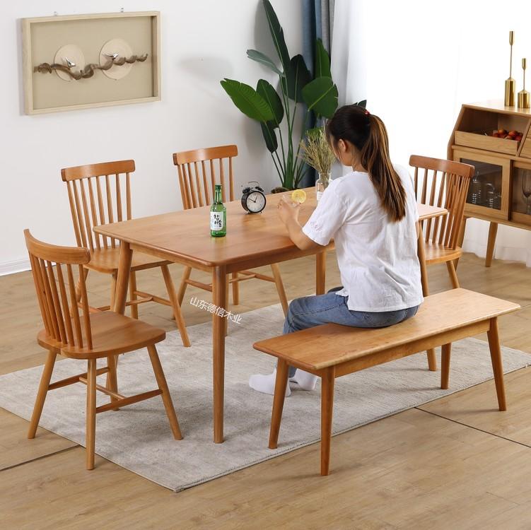 日本式丸太テーブルとテーブル原木テーブル北欧のテーブルとテーブルのセットホワイトオークチェリー木テーブル現代家具