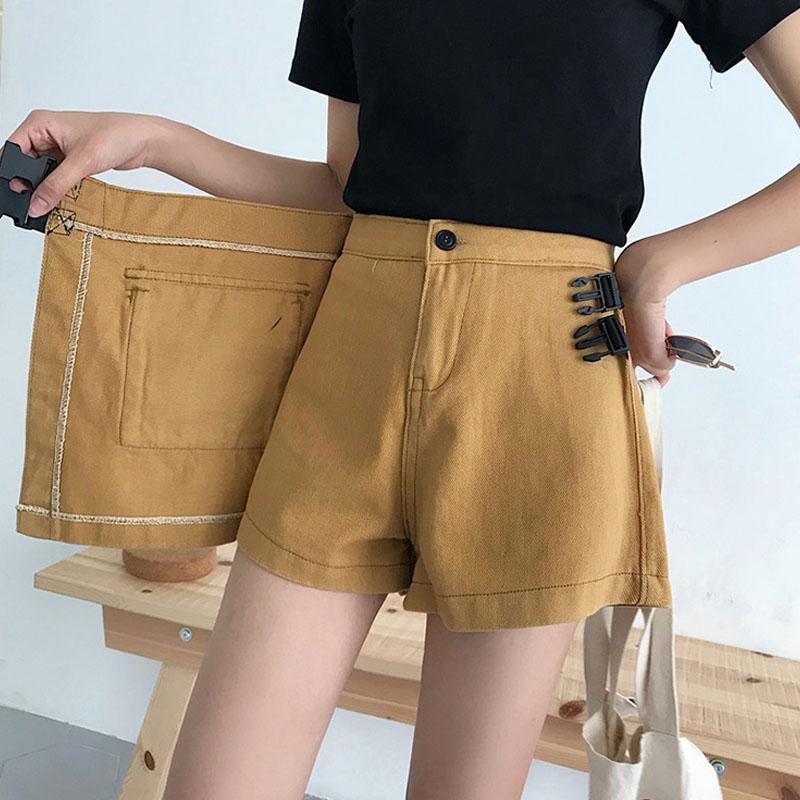 2020新款春夏季网红裤裙女外穿高腰a字牛仔阔腿短裤假两件裙裤夏