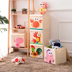 卡通有盖可水洗宝宝玩具收纳箱儿童收纳盒布艺整理箱玩具盒可折叠