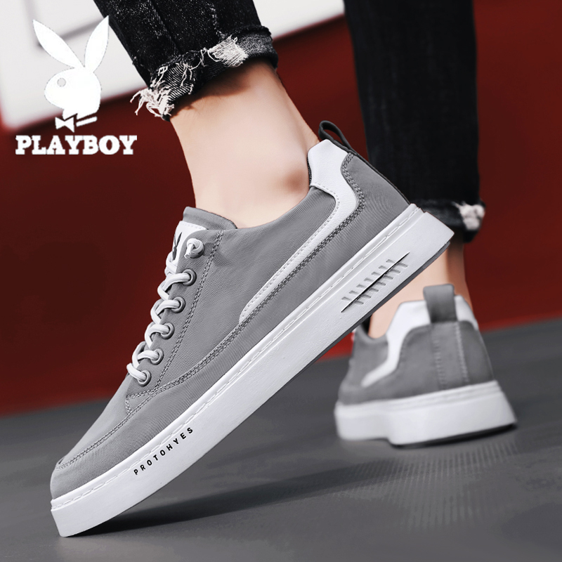 Playboy mens shoes summer breathable low top board shoes