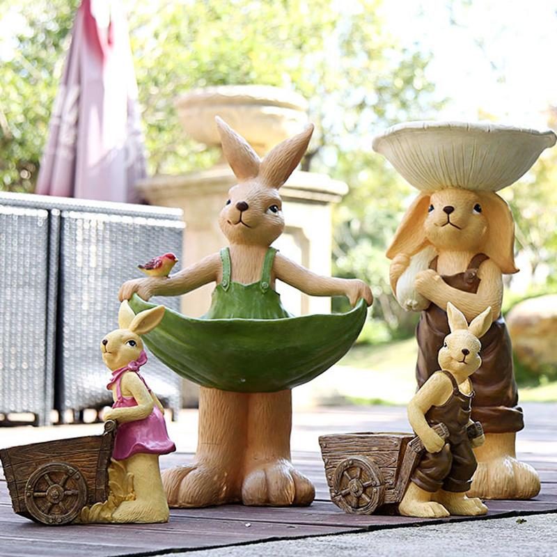 欧式兔子树脂多肉绿植物个性仿花盆10月24日最新优惠