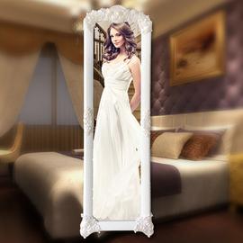 大镜子全身欧式穿衣镜女全身壁挂落地镜卧室家用韩式公主试衣镜