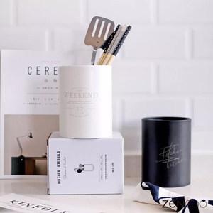 北欧简约筷子桶不锈钢筷筒筷笼餐具桌面收纳家用沥水架烘焙工具筒