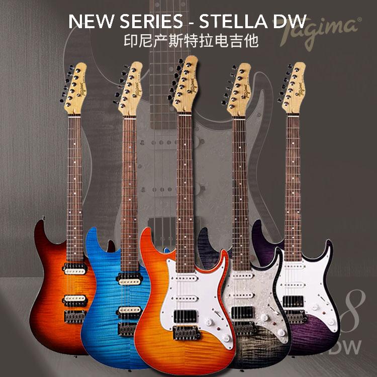 Tagima塔吉瑪エレキギターSTLLA H 2 DWシングルはインドネシア産の学生だけで演奏できます。