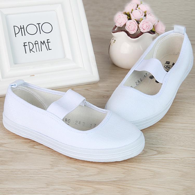 正品山东鲁泰午刀鞋鞋舞蹈表演鞋体操鞋运动鞋白球鞋护士鞋亲子鞋
