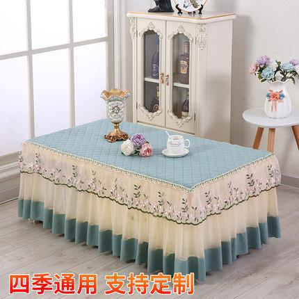新款加厚布艺罩餐桌罩床头柜台布