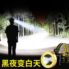 银诺户外led头灯强光充电超亮头戴式手电筒感应远射夜钓照明矿灯