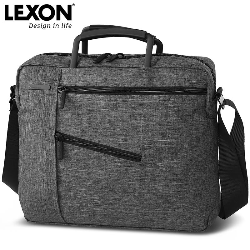 法国LEXON乐上商务笔记本电脑包轻薄公文包男单肩包手提电脑包