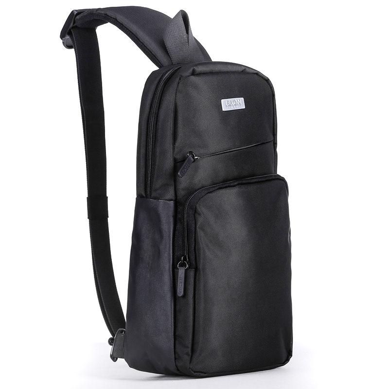 French Lexon one shoulder bag mens large capacity student chest bag mens bag Oxford cloth leisure sports