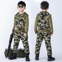 2018 new Autumn childrens clothing camouflage three sets camping army fans clothing major secondary school military training Service