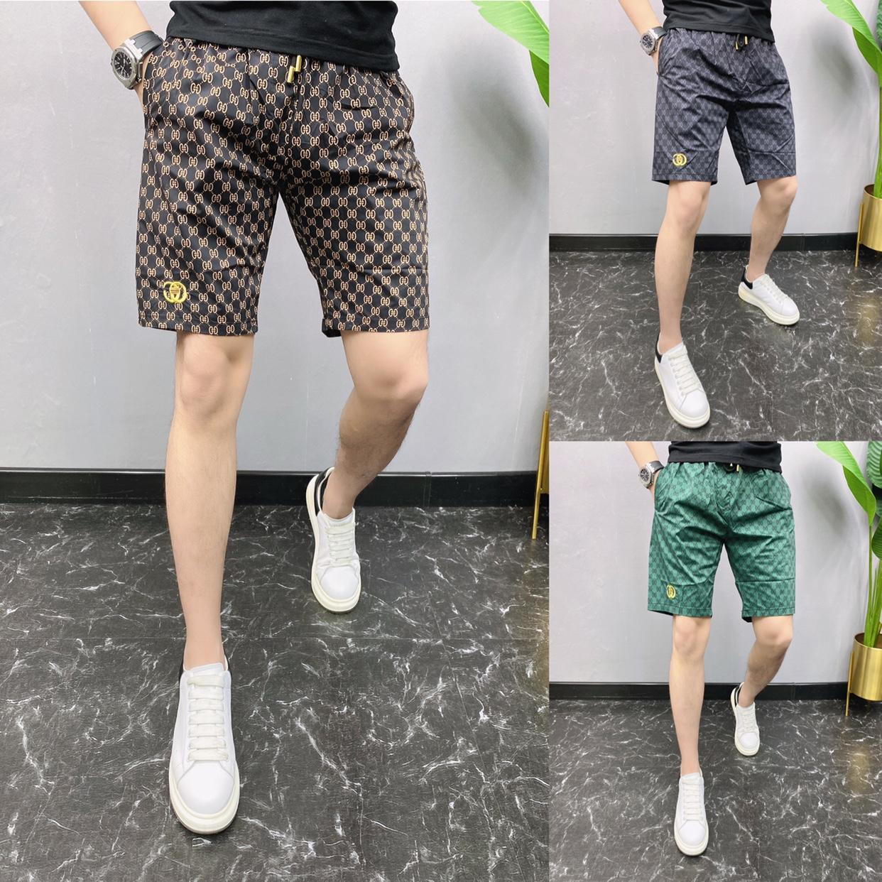 2021夏季新款欧洲站男士休闲裤短裤五分裤薄款沙滩裤网红同款裤子