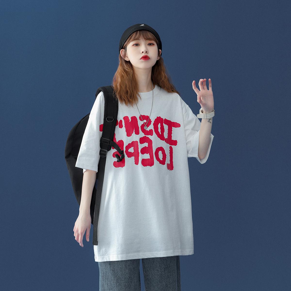 短袖t恤女装夏装2021年夏季新款宽松韩版半袖上衣服ins潮TX105p28