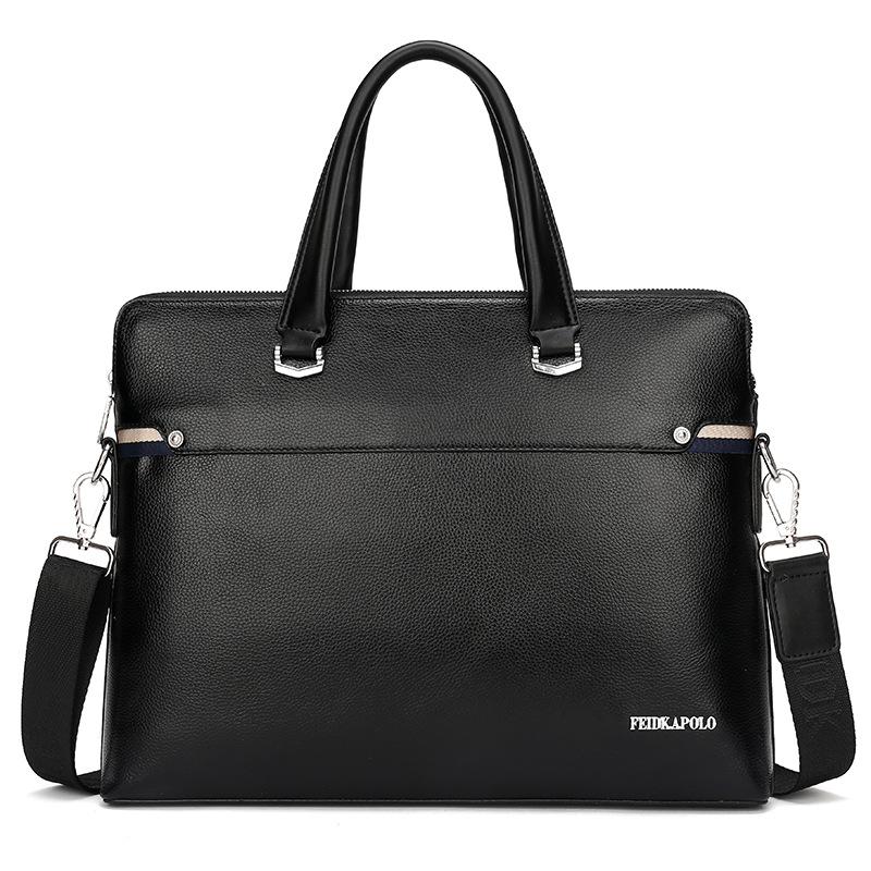 New mens handbag leather cross briefcase Single Shoulder Messenger mens business computer bag manufacturer customized