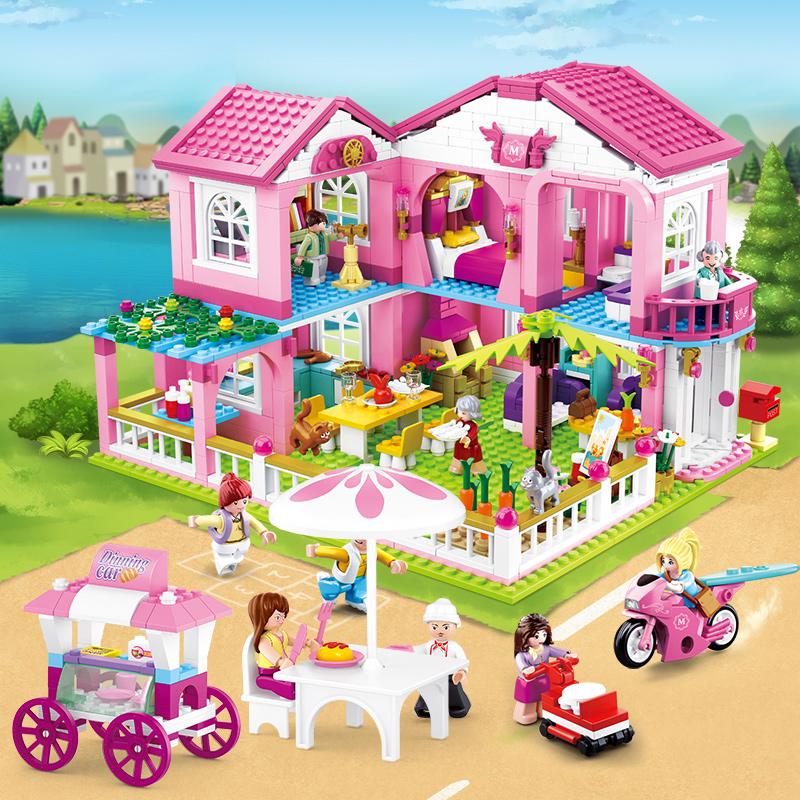 兼容乐积高木女孩子系列冰雪奇缘公主梦别墅6拼装益8智儿童玩具小
