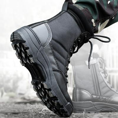 盾郎战靴男特种兵作战靴秋冬作训高帮防寒户外靴子超轻战术陆战靴