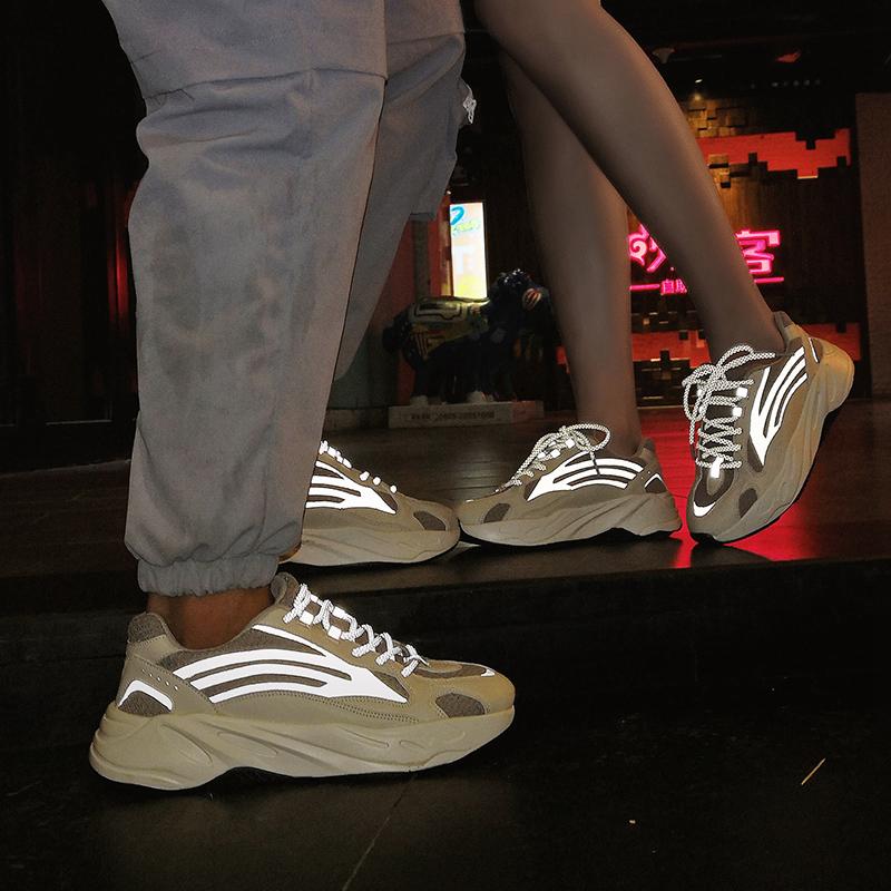 券后138.00元潮鞋男夏季厚底增高运动鞋真爆梵斯椰子700 v2反光鞋子情侣老爹鞋