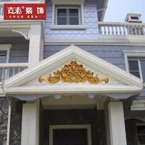 泡沫山花外墻浮雕別墅裝飾eps門頭花歐式窗花線條上金漆雕花