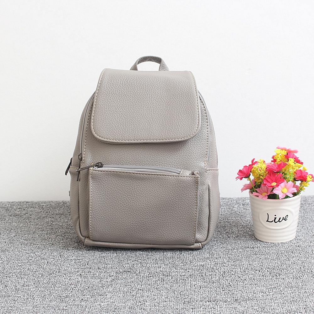 Классическая раскладушка рюкзак вваливаться пу колледж ветер и ламинированные карманные путешествия досуг мини-рюкзак