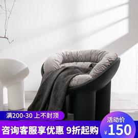 网红懒人ins单人大象腿凳子北欧设计师椅子沙发椅创意阳台休闲椅