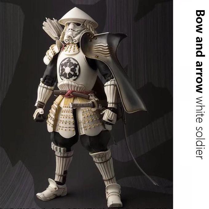 規格品の星大戦の有名な将の黒い侍のおもちゃの模型は弓の白兵に仕えて可動の人形アイアンマンを並べます。