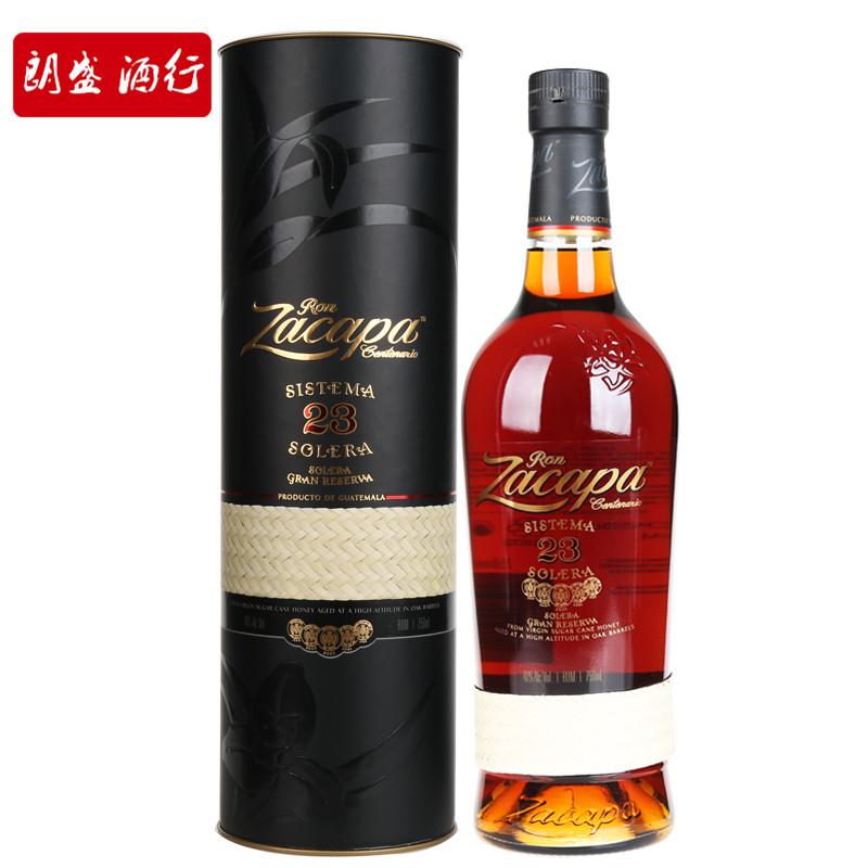 原装进口洋酒 Zacapa 萨凯帕23索莱拉优质珍藏朗姆酒 750ml