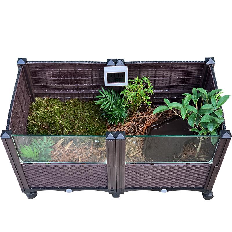 缘友之家黄缘闭壳龟养殖环境 半水龟 东箱生态缸饲养箱造景垫材