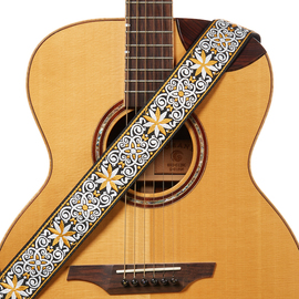Amumu阿木木个性刺绣民谣古典吉他带木吉他电吉他背带贝斯包邮