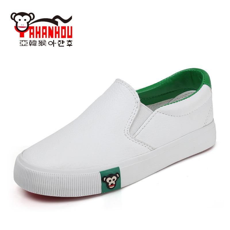 亞韓猴春秋兒童帆布鞋男童鞋子 一腳蹬童鞋女童板鞋寶寶樂福鞋