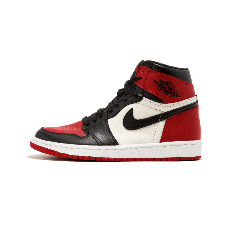 Air Jordan 1 Retro High Bred Toe AJ1乔1黑红脚趾 555088-610 ""