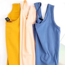 女士莱卡棉吊带背心修身工字韩版打底衫小短款潮内搭外穿无袖上衣