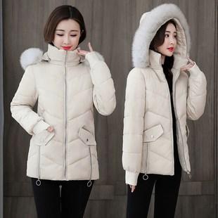 棉服女短款2020秋冬新款修身大毛领棉衣ins冬装小棉袄外套女潮