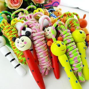 初学木质小孩玩具体育运动比赛健身绳子幼儿园小学生儿童跳绳