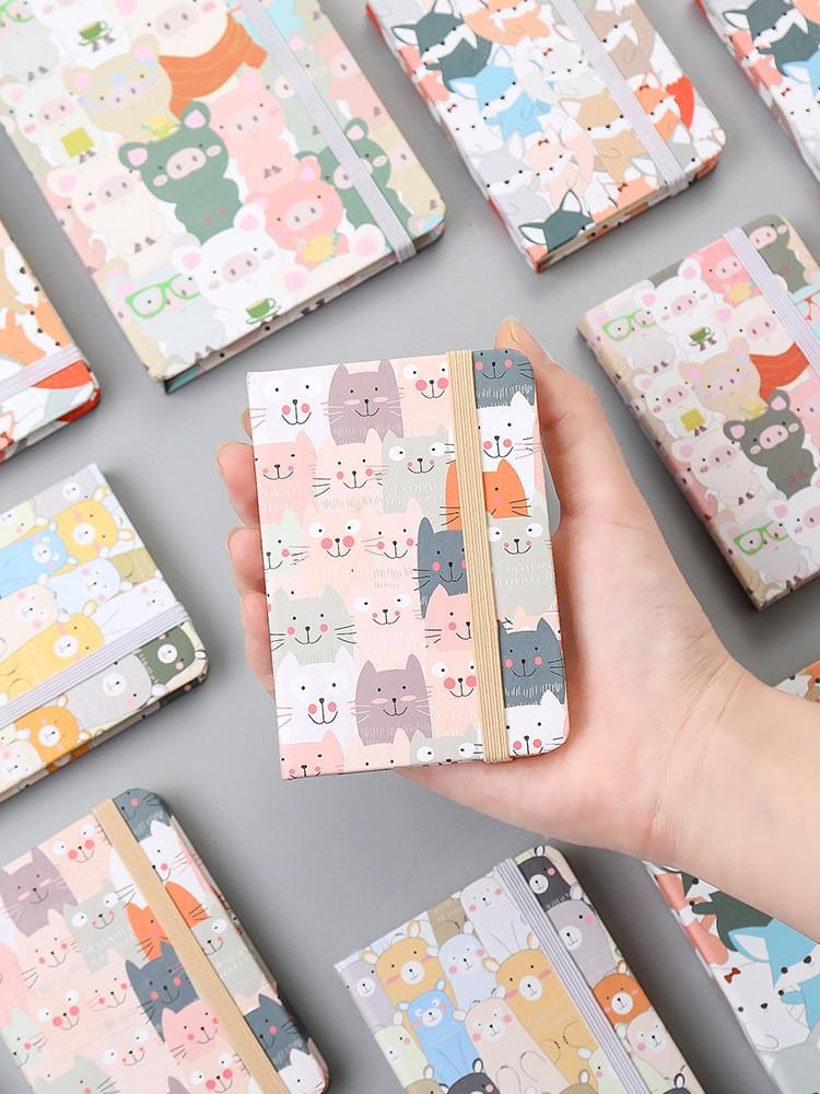 迷你笔记本子小号便携少女可爱超萌韩国清新随身携带小本子记事本