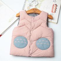 秋冬装女宝宝儿童柔软保暖小背心轻薄坎肩外穿内搭开衫羽绒棉马甲