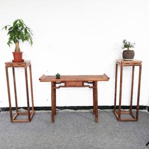 和木坊新中式黑胡桃木供佛条桌平头案条案玄关案实木家具包邮