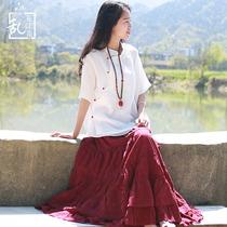 中国风苎麻女装高档民族中华风衬衫棉麻原创品牌唐装斜襟盘扣上衣