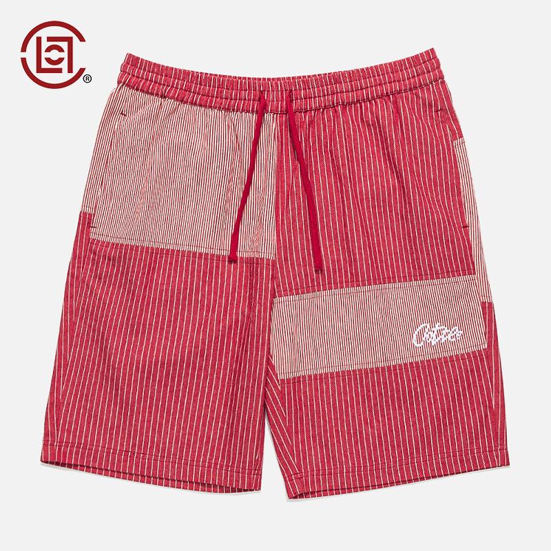 【CLOT CLOTTEE】LOGO拼色休閑短褲 海灘系列 紅色 陳冠希主理