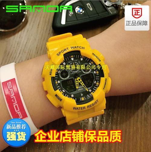 Simple large dial personality watch exported to Europe and America trend of Japan and South Korea mens and womens leisure Watch Rubber Band Watch trend