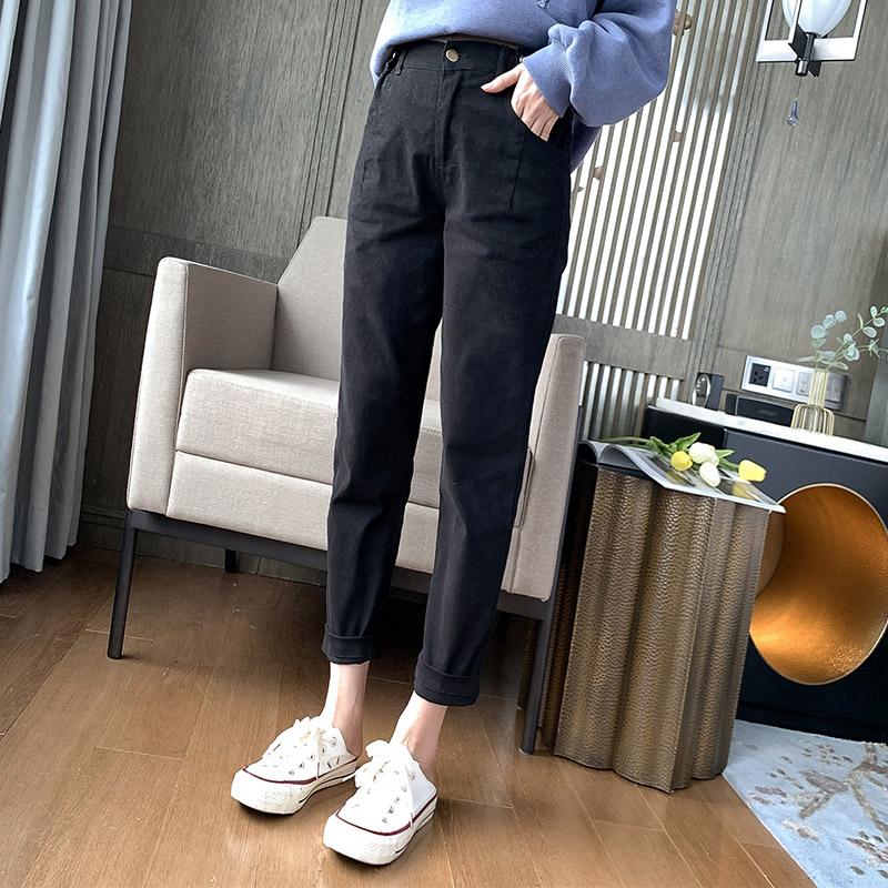 大码女装简约时髦休闲裤胖妹妹mm2019新款秋装显瘦减龄遮肉长裤女正品保证