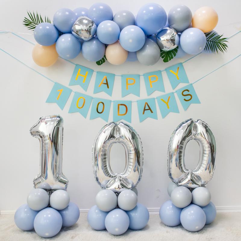 网红ins男孩宝宝满月装饰用品气球11月30日最新优惠