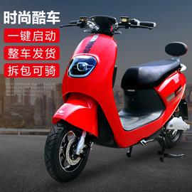 小精灵电动车60v72v小绵羊电动摩托车小龟王电瓶车踏板车男女双人图片