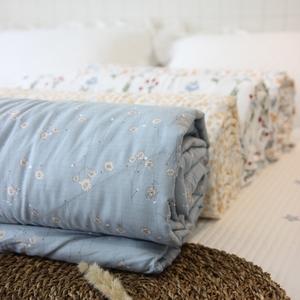 网红同款小清新小碎花全棉夏被纯棉田园床品床上被子夏凉被空调被