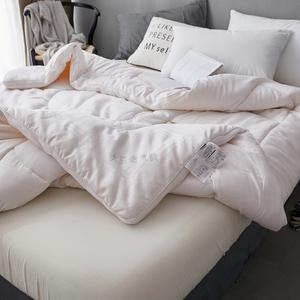 全棉大豆纤维单人保暖棉被纯棉被子冬被加厚褥春秋被芯双人太空被