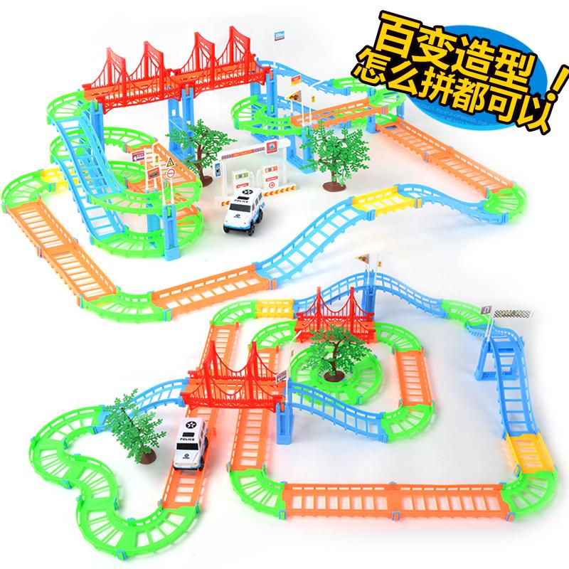 頑兔托馬斯小火車套裝電動軌道車小汽車火車頭兒童玩具男孩3~6歲4