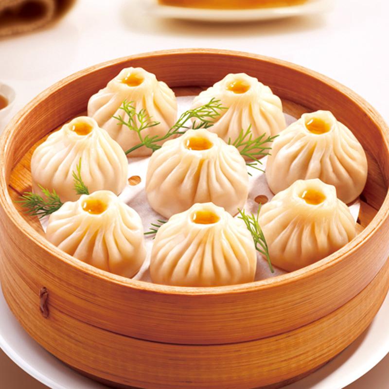 三全上海风味灌汤小笼包子450g18只速冻早餐半成品鲜肉包面食面点