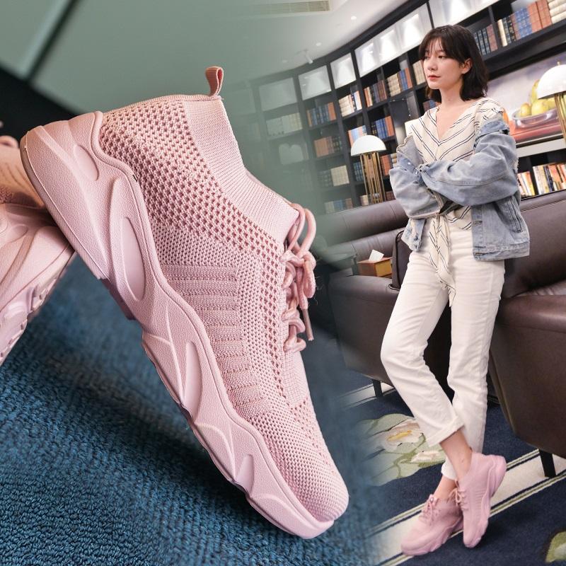 2020新款春夏季运动鞋网红街拍潮流女鞋舒适网面柔软百搭跑步鞋