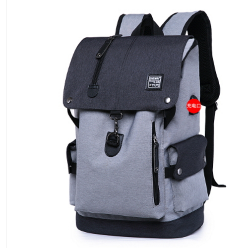 Backpack mens fashion trend college students schoolbag leisure travel backpack multifunctional computer backpack large capacity