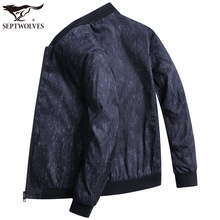 Seven Wolves Double-sided Jacket Men's Fall Jacket 2019 New Loose Baseball Suit with Dad Men's Overcoat on both sides