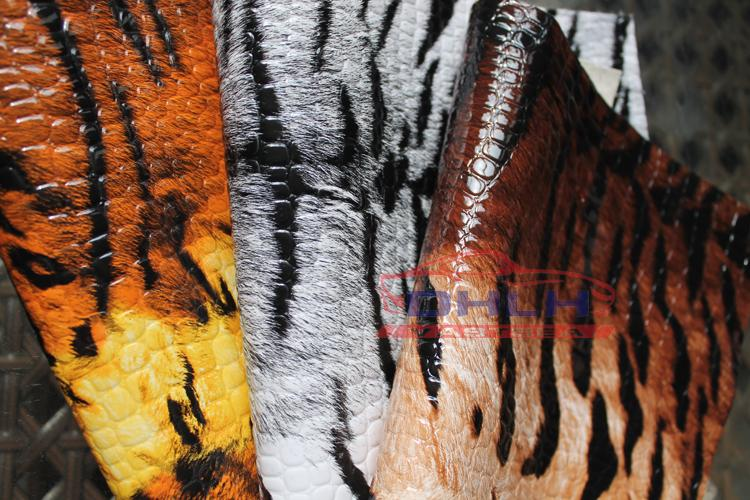特价包邮虎皮纹皮革 个性亮面人造革硬包装饰沙发箱包手袋DIY面料