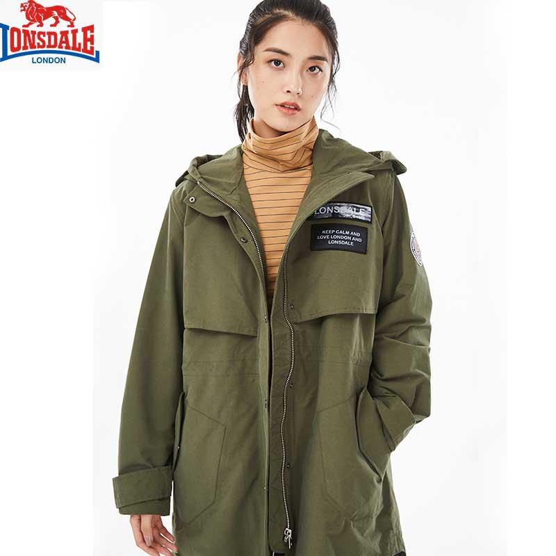 龙狮戴尔户外冲锋衣女中长款潮牌三合一加厚内胆保暖防风外套风衣